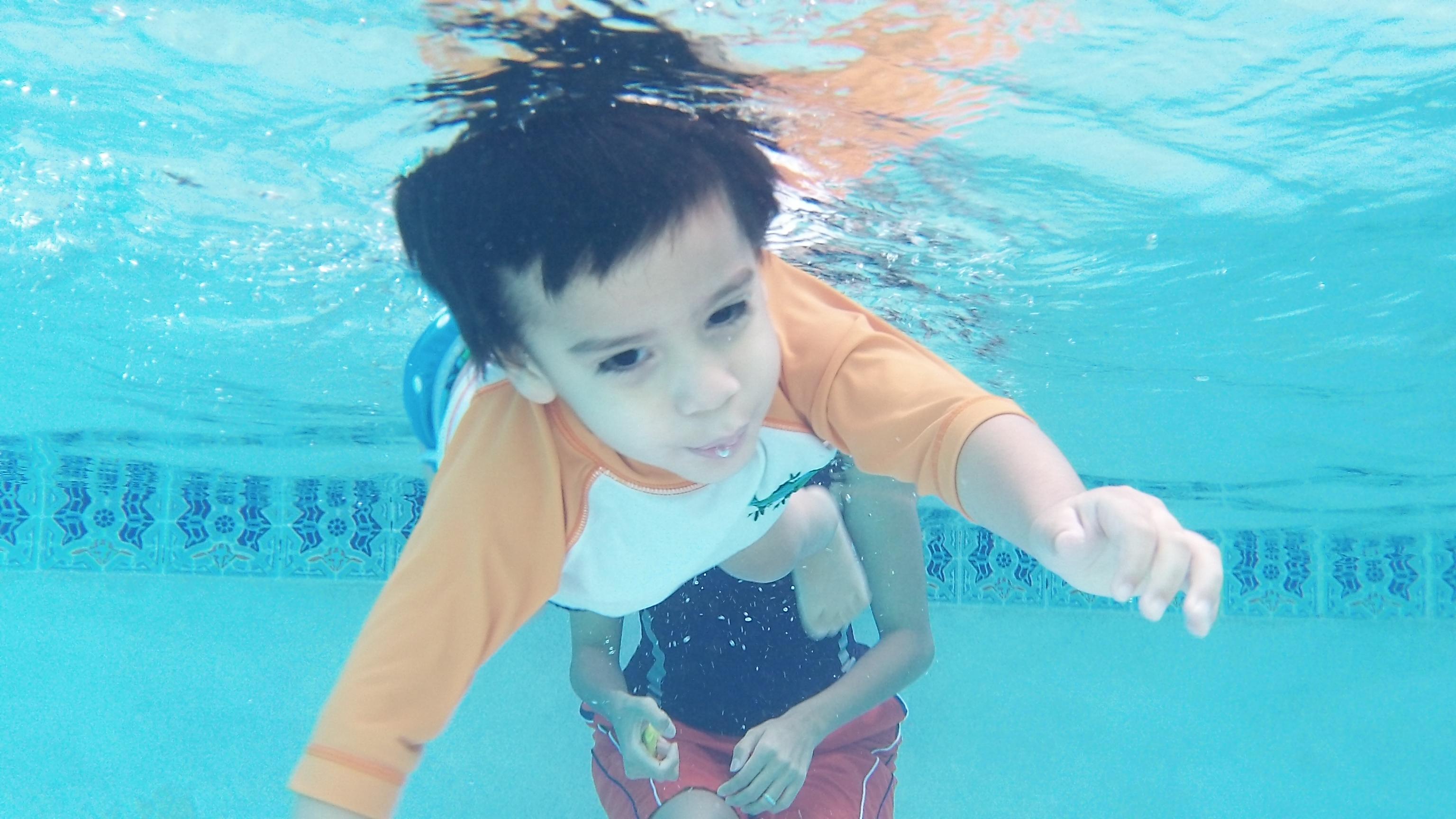 Landon underwater