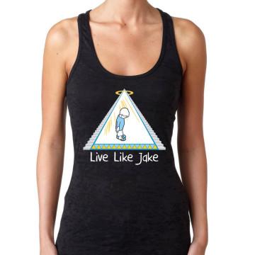 Live Like Jake Women's Burnout Racerback Tank - Black