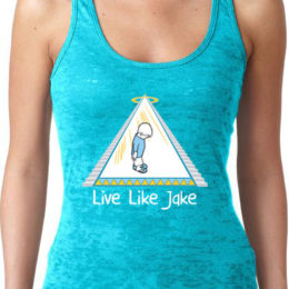 Live Like Jake™ Women's Burnout Racerback Tank Teal
