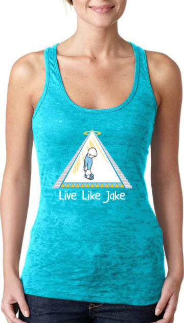 Live Like Jake™ Women's Burnout Racerback Tank Teal