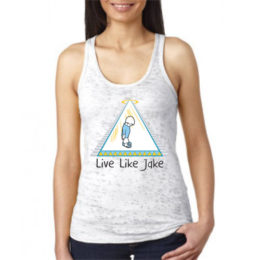 Live Like Jake Women's Burnout Racerback Tank